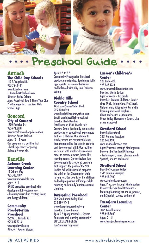 PRESCHOOL GUIDE UPDATED 09.2013