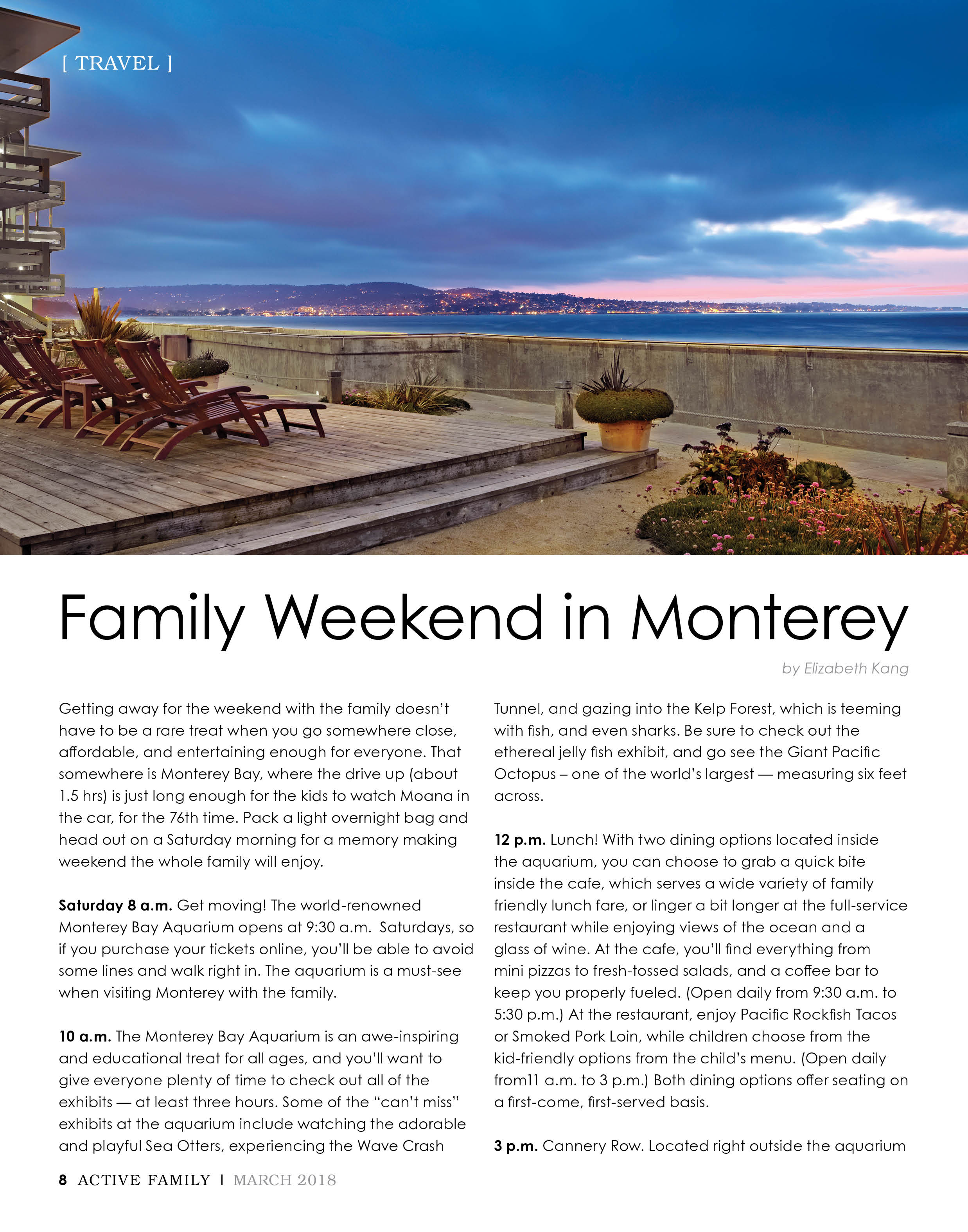 Family Weekend in Monterey - Active Family Magazine