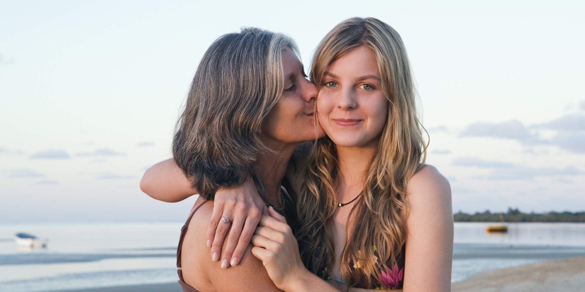moms and daughters naked on beach
